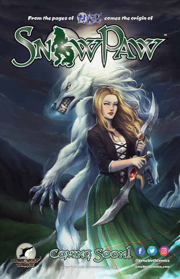Rob Multari, Snow Paw, Lone Wolf Comics, Night Wolf, raginavc